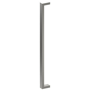 LINEA Entrance Pull Handles, Stainless Steel, 38mm x 25mm x 800mm CTC (Back to Back Pair) in Satin Stainless Steel