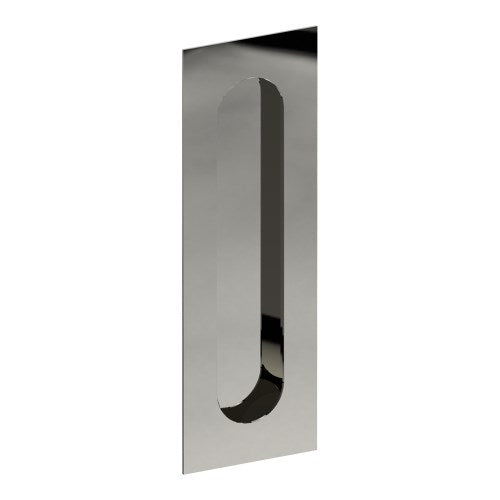 Rectangular, Sliding Door, Flush Pull Handle (Single). Solid Stainless Steel. Round End Finger Hole. Invisible Fix (no screw holes)