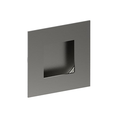 Square, Sliding Door, Flush Pull Handle (Single). Solid Stainless Steel. Square Finger Hole. 50mm x 50mm. Invisible Fix (no screw holes)