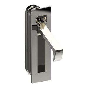 Sliding Door Edge Pull Handle, Square End, H70mm x W16mm x D19mm in Polished Chrome