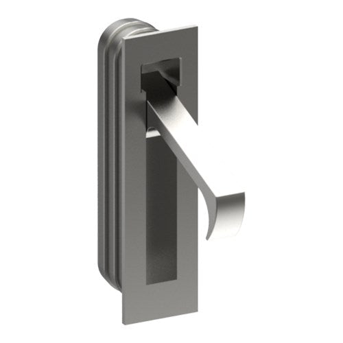 Sliding Door Edge Pull Handle, Square End, H70mm x W16mm x D19mm