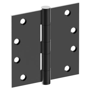 Hinge 100mm x 100mm x 2.5mm, Stainless Steel, Button Tipped, Fixed Pin (w/timber and metal thread Screws) in Satin Black Chrome