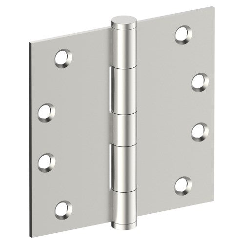 Hinge 100mm x 100mm x 2.5mm, Stainless Steel, Button Tipped, Fixed Pin (w/timber and metal thread Screws)