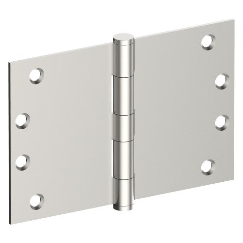 Hinge 100mm x 150mm x 3.5mm, Stainless Steel, Button Tipped, Fixed Pin (w/timber and metal thread Screws)