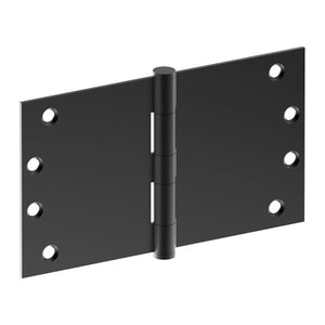 Hinge 100mm x 175mm x 3.5mm, Stainless Steel, Button Tipped, Fixed Pin (w/timber and metal thread Screws) in Satin Black Chrome