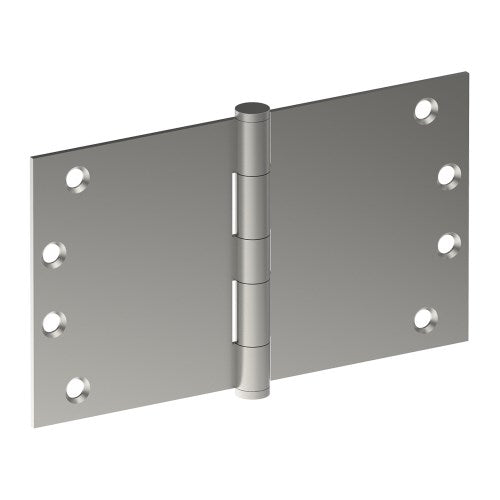 Hinge 100mm x 175mm x 3.5mm, Stainless Steel, Button Tipped, Fixed Pin (w/timber and metal thread Screws)