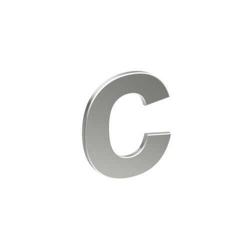 Stainless Steel Letter 'C' 80mm x 60mm