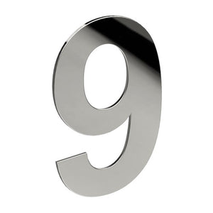 Stainless Steel Number '9' 130mm x 90mm