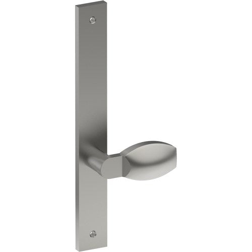 ASH Door Handle on B02 INTERNAL Lockwood Style Backplate, Visible Fixing (Half Set)