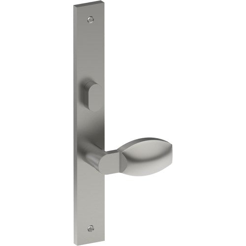 ASH Door Handle on B02 INTERNAL Lockwood Style Backplate with Privacy Turn, Visible Fixing (Half Set)