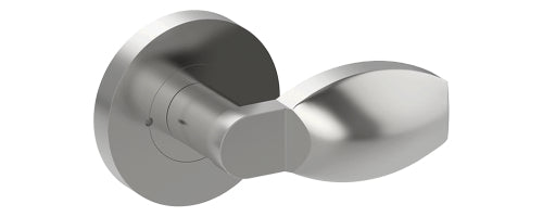 ASH Door Handles on Ø65mm Rose with Integrated Privacy (Pair)