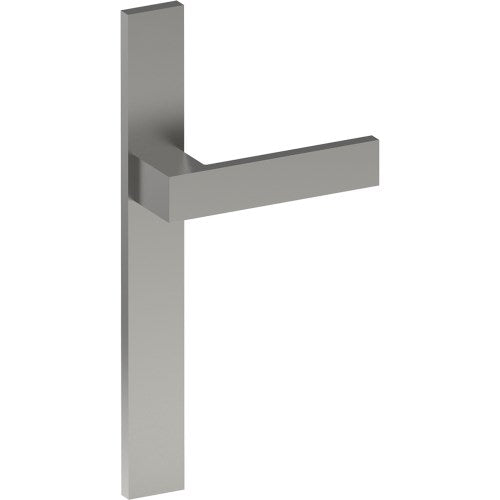 BAR Door Handle on B02 EXTERNAL Euro Style Backplate, Concealed Fixing (Half Set)