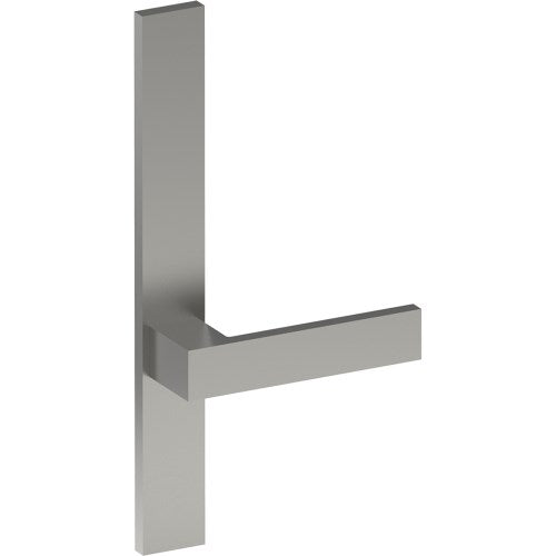 BAR Door Handle on B02 EXTERNAL Lockwood Style Backplate, Concealed Fixing (Half Set)