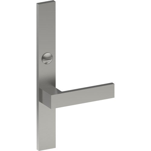 BAR Door Handle on B02 EXTERNAL Lockwood Style Backplate with Emergency Release, Concealed Fixing (Half Set)
