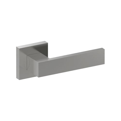 BAR Door Handles on Square Rose Concealed Fix Rose (Pair)
