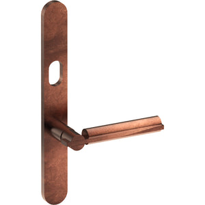 BRONN Door Handle on B01 EXTERNAL Lockwood Style Backplate with Cylinder Hole, Concealed Fixing (Half Set) - Style Finish Design Pty Ltd
