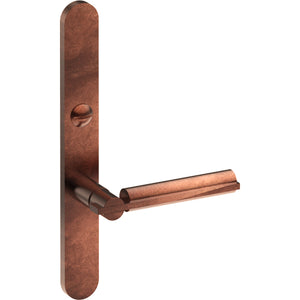 BRONN Door Handle on B01 EXTERNAL Lockwood Style Backplate with Emergency Release, Concealed Fixing (Half Set) - Style Finish Design Pty Ltd