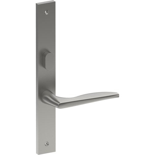 CASTILE Door Handle on B02 INTERNAL Lockwood Style Backplate with Privacy Turn, Visible Fixing (Half Set)