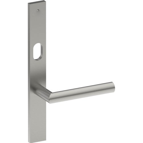 CETINA Door Handle on B02 EXTERNAL Lockwood Style Backplate with Cylinder Hole, Concealed Fixing (Half Set)