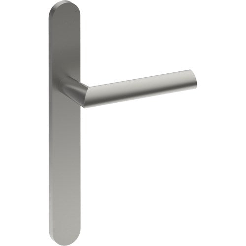 COMO Door Handle on B01 EXTERNAL Euro Style Backplate, Concealed Fixing (Half Set)