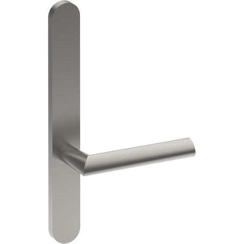COMO Door Handle on B01 EXTERNAL Lockwood Style Backplate, Concealed Fixing (Half Set)