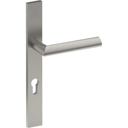 COMO Door Handle on B02 EXTERNAL Euro Style Backplate with Cylinder Hole, Concealed Fixing (Half Set)