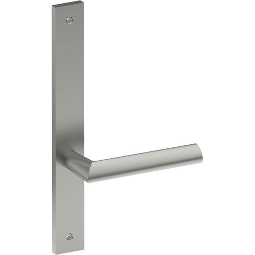COMO Door Handle on B02 INTERNAL Lockwood Style Backplate, Visible Fixing (Half Set)