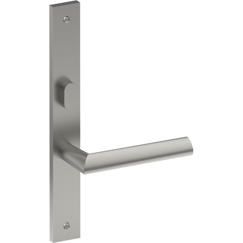 COMO Door Handle on B02 INTERNAL Lockwood Style Backplate with Privacy Turn, Visible Fixing (Half Set)