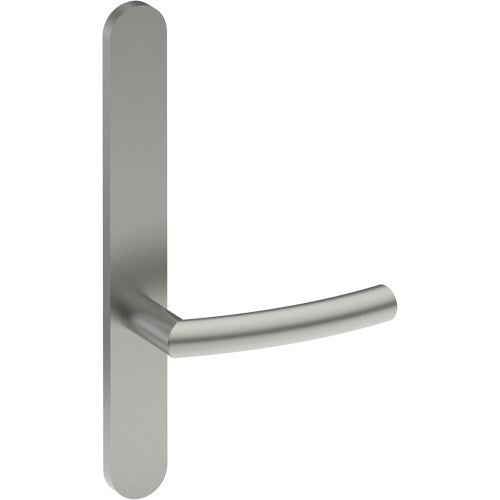 CURVE Door Handle on B01 EXTERNAL Lockwood Style Backplate, Concealed Fixing (Half Set)