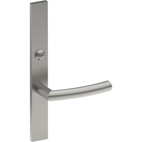 CURVE Door Handle on B02 EXTERNAL Lockwood Style Backplate with Emergency Release, Concealed Fixing (Half Set)