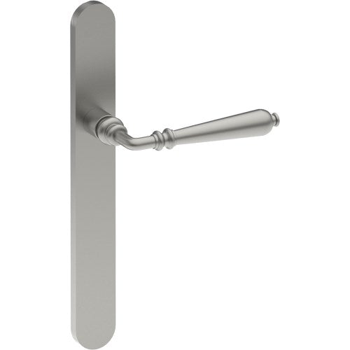 ELEGANTE Door Handle on B01 EXTERNAL Euro Style Backplate, Concealed Fixing (Half Set)