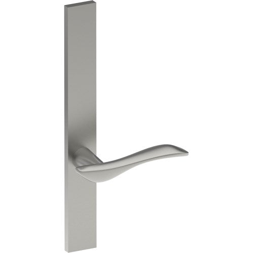 FERRARA Door Handle on B02 EXTERNAL Lockwood Style Backplate, Concealed Fixing (Half Set)