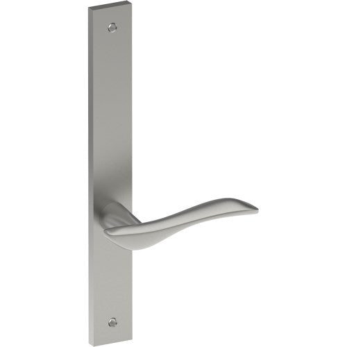 FERRARA Door Handle on B02 INTERNAL Lockwood Style Backplate, Visible Fixing (Half Set)