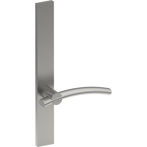 LAGUNA Door Handle on B02  EXTERNAL Lockwood Style Backplate, Concealed Fixing (Half Set)