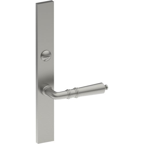 LATINA Door Handle on B02 EXTERNAL Lockwood Style Backplate with Emergency Release, Concealed Fixing (Half Set)