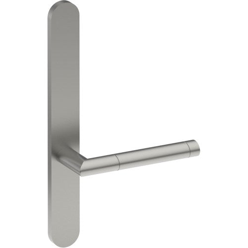 METZ Door Handle on B01 EXTERNAL Lockwood Style Backplate, Concealed Fixing (Half Set)