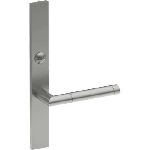 METZ Door Handle on B02 EXTERNAL Lockwood Style Backplate with Emergency Release, Concealed Fixing (Half Set)