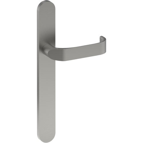 MOSS Door Handle on B01 EXTERNAL Euro Style Backplate, Concealed Fixing (Half Set)