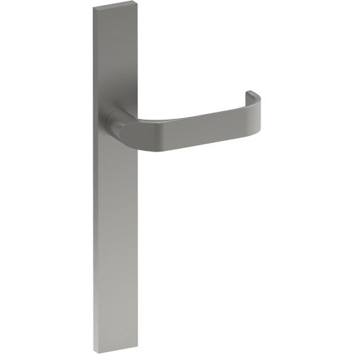 MOSS Door Handle on B02 EXTERNAL Euro Style Backplate, Concealed Fixing (Half Set)
