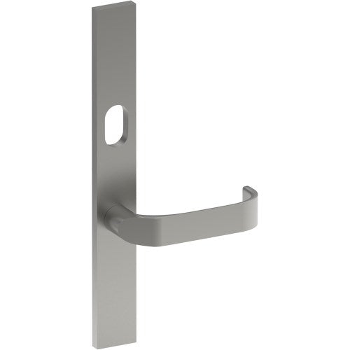MOSS Door Handle on B02 EXTERNAL Lockwood Style Backplate with Cylinder Hole, Concealed Fixing (Half Set)