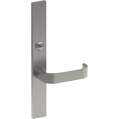 MOSS Door Handle on B02 EXTERNAL Lockwood Style Backplate with Emergency Release, Concealed Fixing (Half Set)