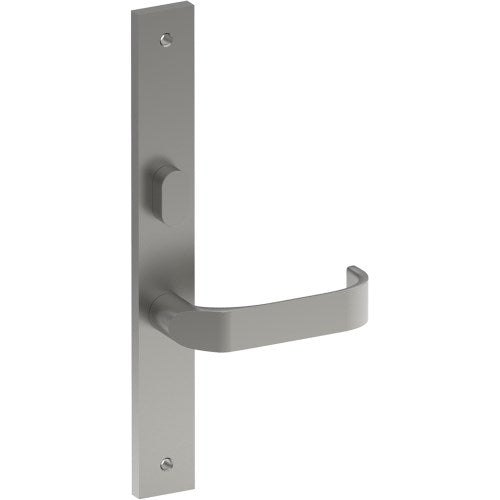 MOSS Door Handle on B02 INTERNAL Lockwood Style Backplate with Privacy Turn, Visible Fixing (Half Set)