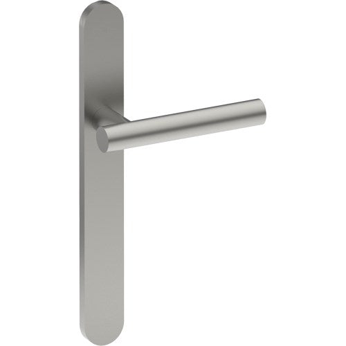 RIENZA Door Handle on B01 EXTERNAL Euro Style Backplate, Concealed Fixing (Half Set)