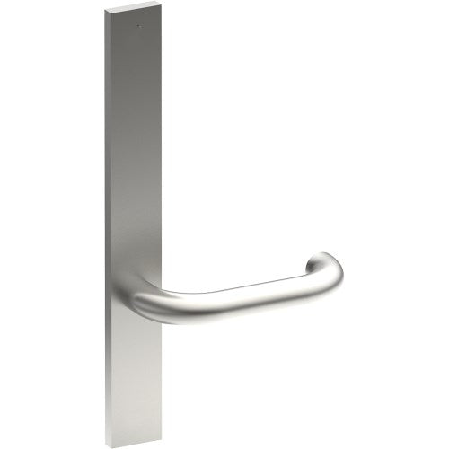 SAFETY Door Handle on B02 EXTERNAL Lockwood Style Backplate, Concealed Fixing (Half Set)