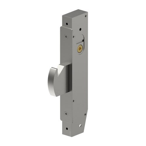 Mortice Sliding Door, Hook Bolt, Lock Case, Narrow Stile, 23mm Backset, 22mm Bolt, includes 2 Escutheons and 2 Cams