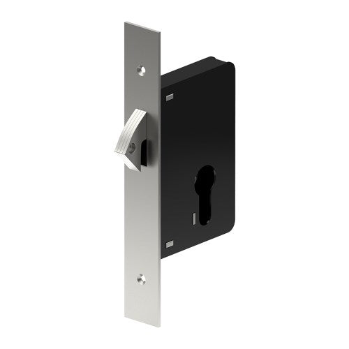 Euro Sliding Door Lock Dead Lock - 45mm Backset