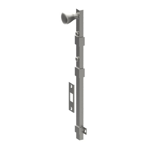 Panic Bolt, Concealed Fix, 600mm including Floor Plates and Screws