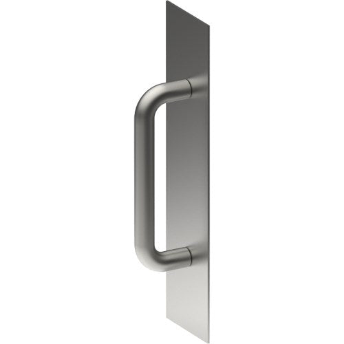 Square Corner, Pull Handle on Backplate, Concealed Fix