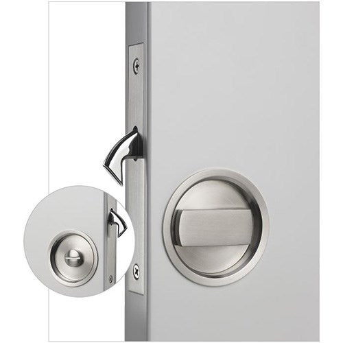 Madinoz CSL30 Sliding Door Privacy Lock Complete with Flush Pulls Ø57mm, Privacy Turn and Emergency Release