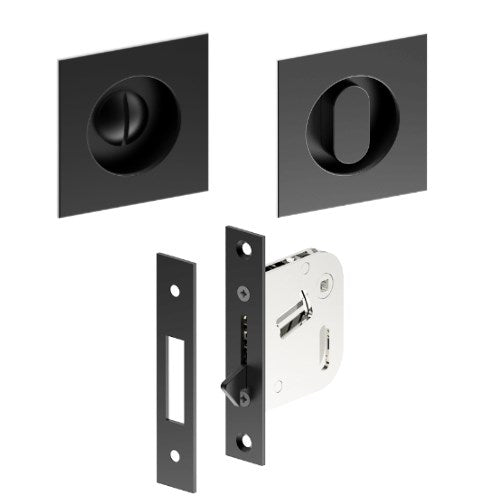 Square Flush Pull Privacy Set